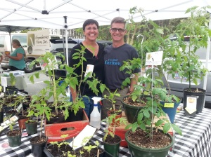 Farmer Linda & Farmer Al at their first King Farmers' Market