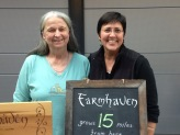 Farmer Susan Moser of Moser Manor and Farmer Linda of Farmhaven