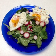 Vit Mache, radishes, farm eggs. Mmmmm