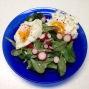 Vit Mache, radishes, farm eggs. Mmmmm